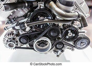 motore, automobile, colpo, fine