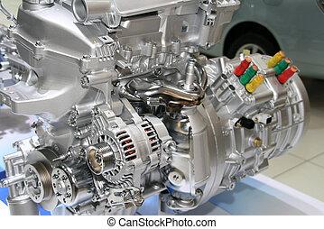 motore, automobile, ibrido