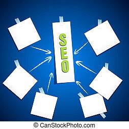 motore, blu, ricerca, concetto, parola, optimization, etichetta, fondo, seo, nuvola