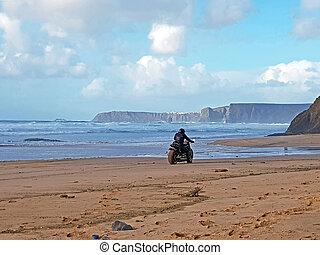 motore, guida, spiaggia