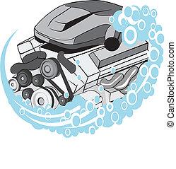 motore, lavare