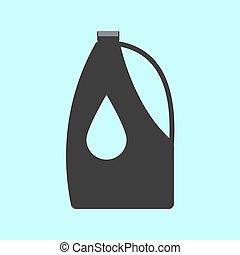 motore, oilflat, illustration., isolated., fondo., vettore, icona