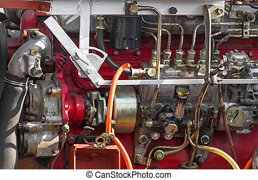motore, parte pianta, diesel, potere