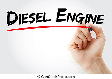 motore, pennarello, mano, diesel, scrittura