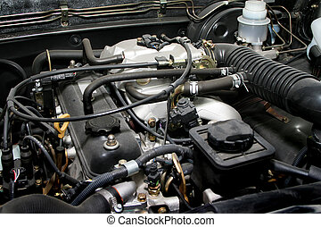 motore, vecchio, potente