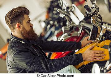 motorfiets, man
