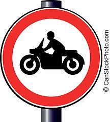 motorfiets, meldingsbord
