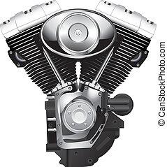 motorfiets, motor
