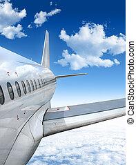 motorflugzeug, fliegendes