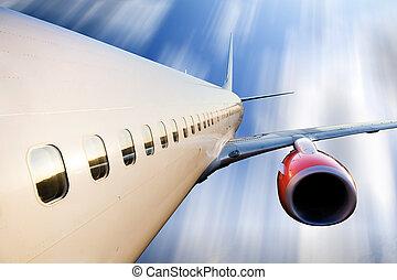 motorflugzeug, flug