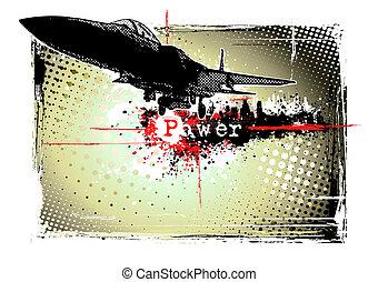 motorflugzeug, rahmen