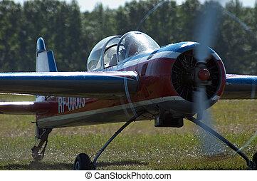 motorflugzeug, sport