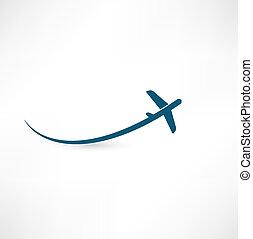 motorflugzeug, symbol