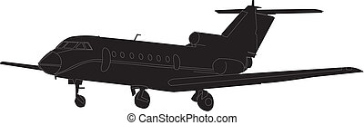 motorflugzeug, vektor, -