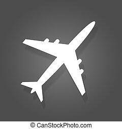 motorflugzeug, vektor, abbildung