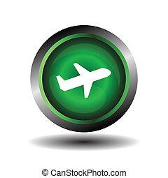 motorflugzeug, vektor, ikone