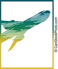 motorflugzeug, vektor, illustration.