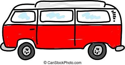 campervan - motorhome campervan vehicle - bus art series