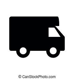 motorhome, camping car, icône