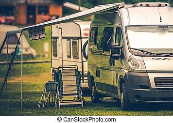 Motorhome Vacation Camping