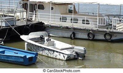 Motorized Boat on River