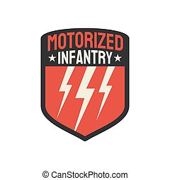 Motorized infantry squad military army insignia