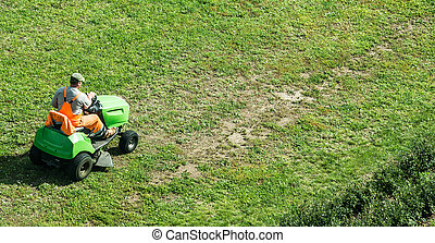 motorized lawn-mower