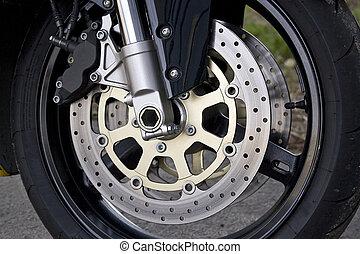 motorkerékpár, gördít, részletez
