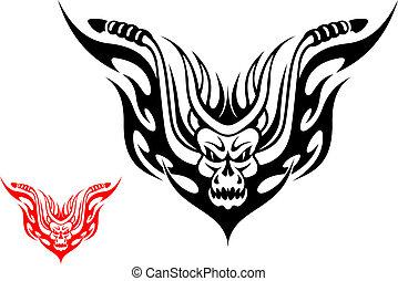 motorkerékpár, tetovál