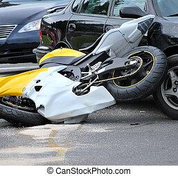 motorrad, accident.