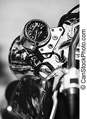 motorrad, geschwindigkeitsmesser