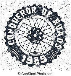 motorrad, rad, emblem