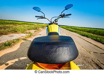 motorrad, straße