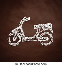 motorroller, ikone