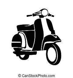 motorroller, symbol