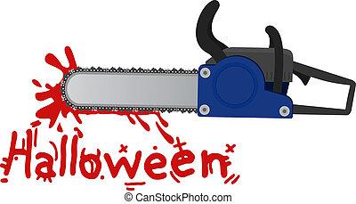motorsåg, halloween