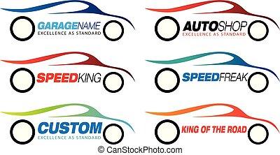 motorsport logo or symbol - Vector illustration of a...
