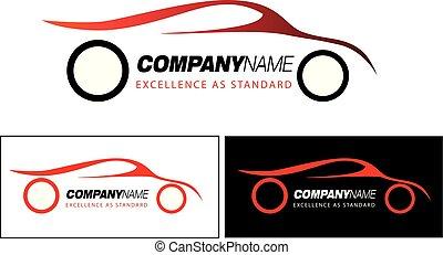 motorsport, símbolo, ou, logotipo