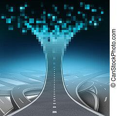 motorväg, digital