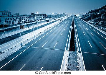 motorväg, ren