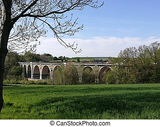 Motorway bridge in Saxony