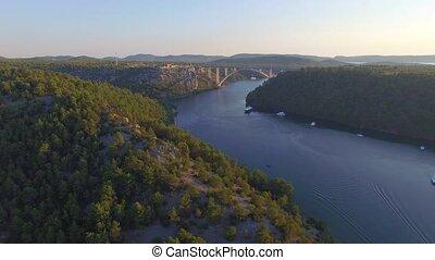 Motorway bridge over Krka river, Croatia