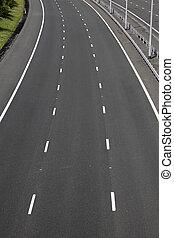motorway, dróżki, opróżniać