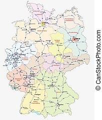 motorway map germany