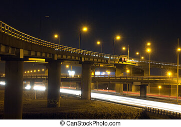 Motorway Over-pass - The viaducts of a motorway junction at ...