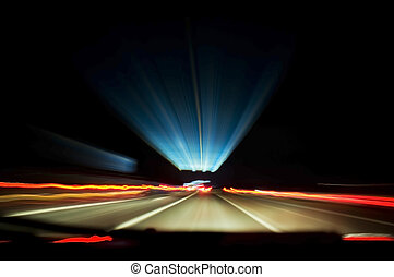 Motorway Trails - Light trails from a motorway