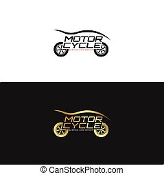 Motorycle Logo design in gold and black