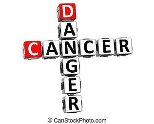 mots croisés, 3d, cancer, danger
