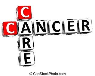 mots croisés, 3d, cancer, soin