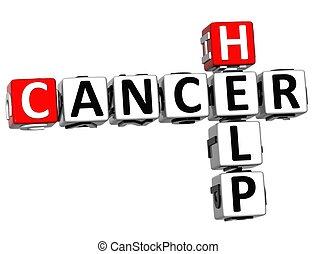 mots croisés, aide, cancer, 3d